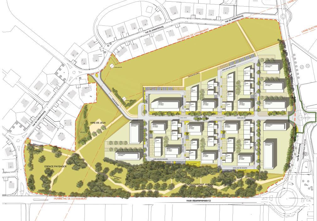 MUNDOLSHEIM-Plan-masse-Quartier-du-Parc