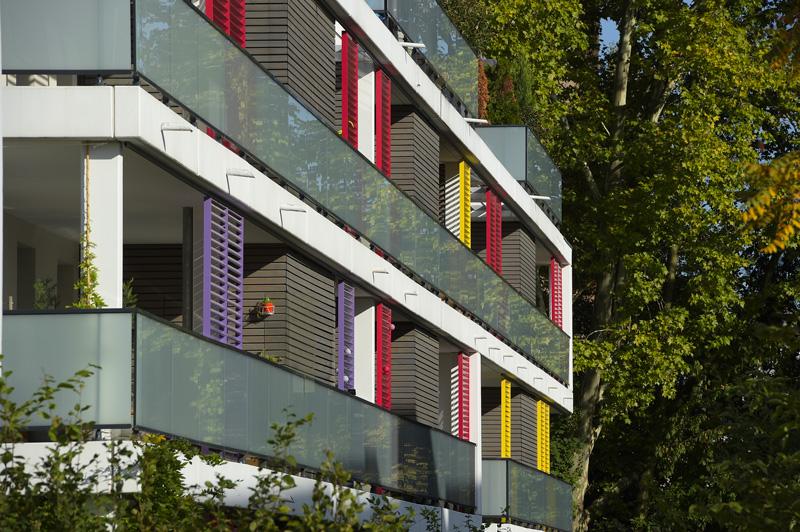 Façade de l'écoquartier Brasserie à Strasbourg