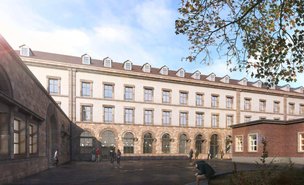 façade intérieure hostel manufacture Strasbourg
