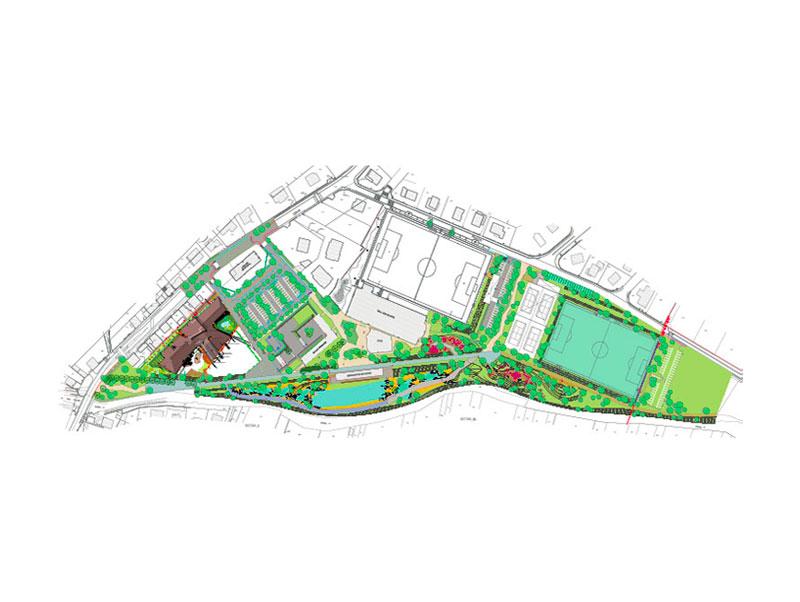 Plan de l'espace sport à Duppigheim