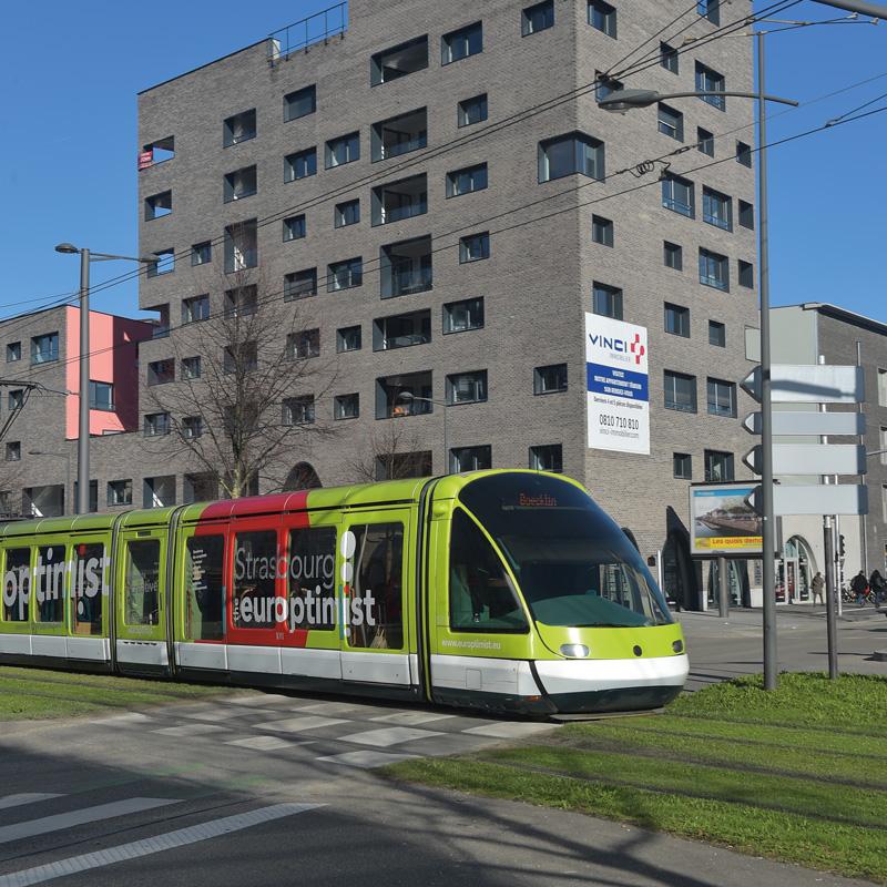 Tram écoquartier Danube