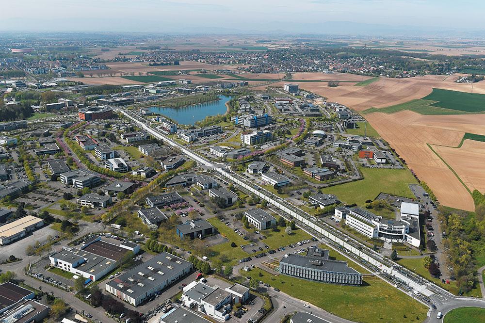 vue aérienne espace européen