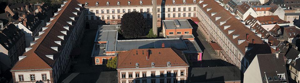 vue aérienne manufacture Strasbourg