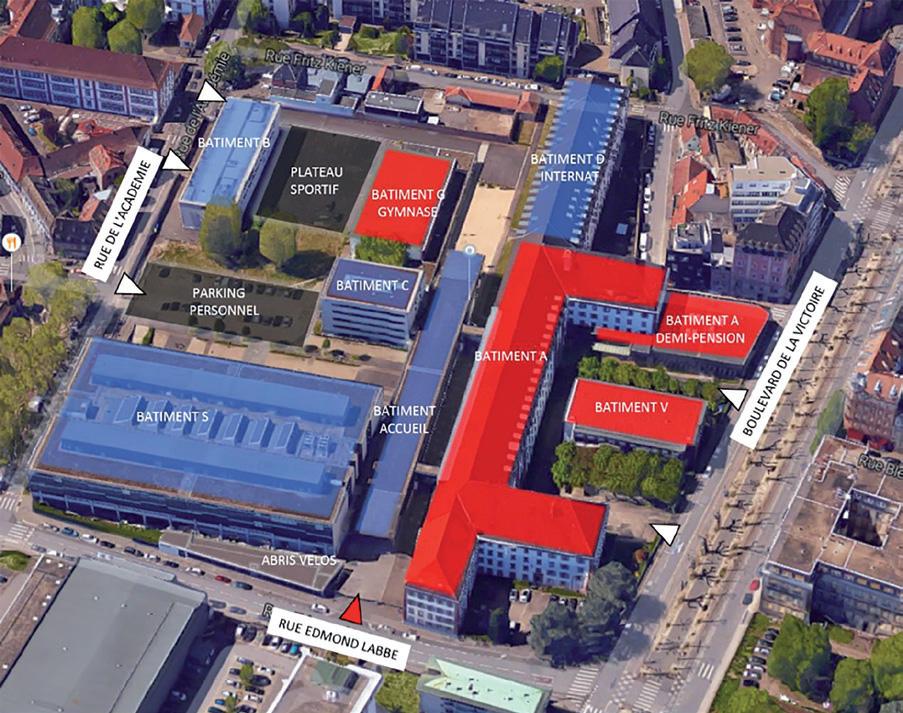 Construction lycée Jean Rostand à Strasbourg