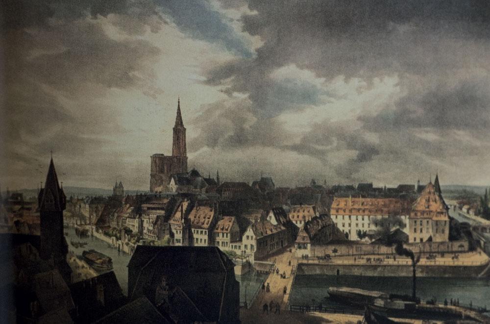 Enclos Saint-Étienne vers 1850 - BNU Strasbourg