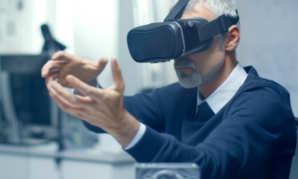 Le Parc d'Innovation :la salle de réalité virtuelle,pour le Pôle Fibre-Énergivie
